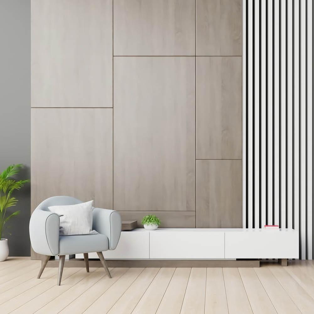 Деревянная стеновая панель покрытая натуральным шпоном Ясеня