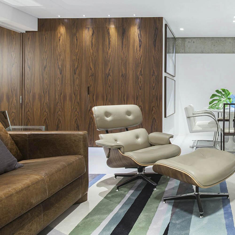 Деревянные настенные панели из шпона Палисандр файн-лайн