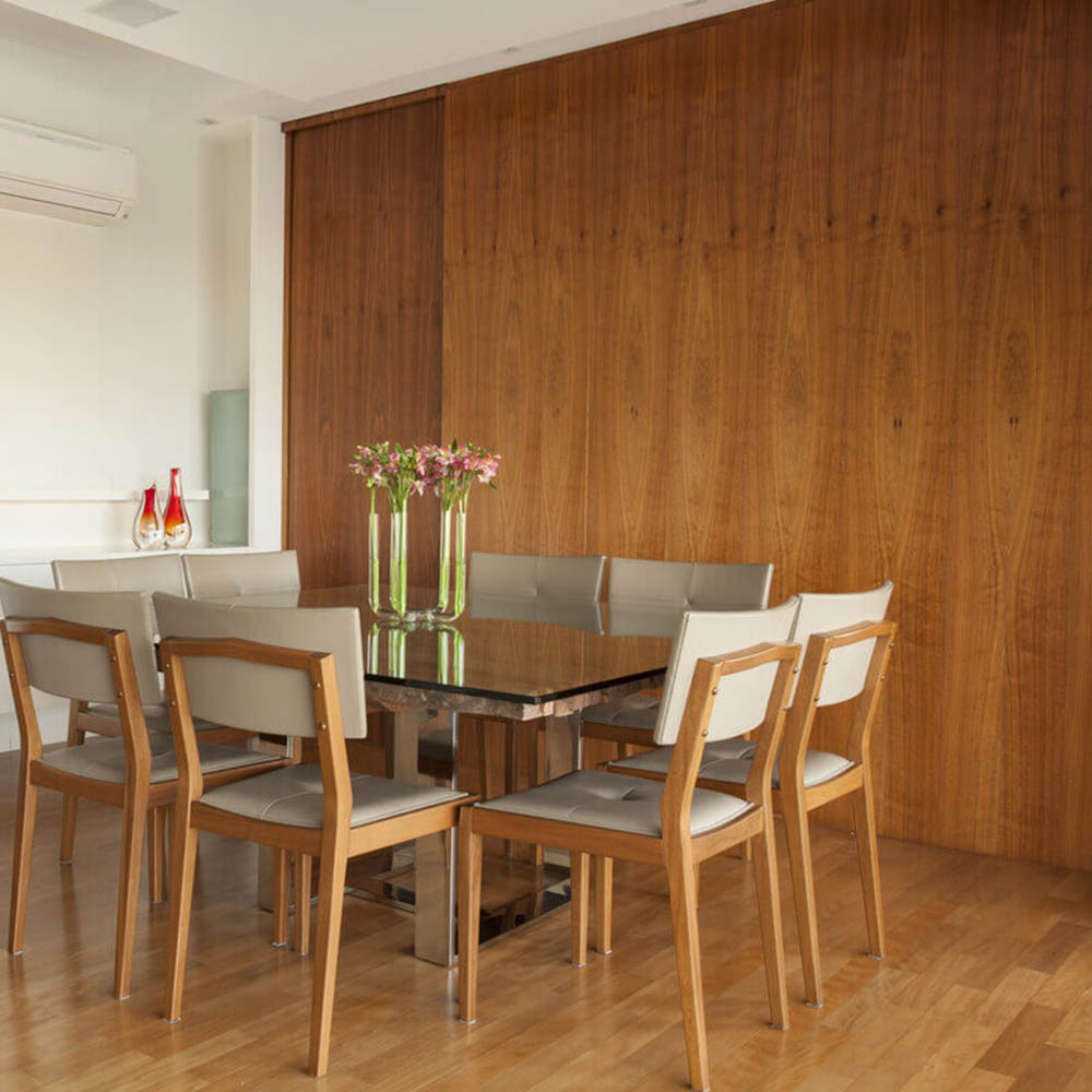 Деревянные стеновые панели из шпона Американского Ореха
