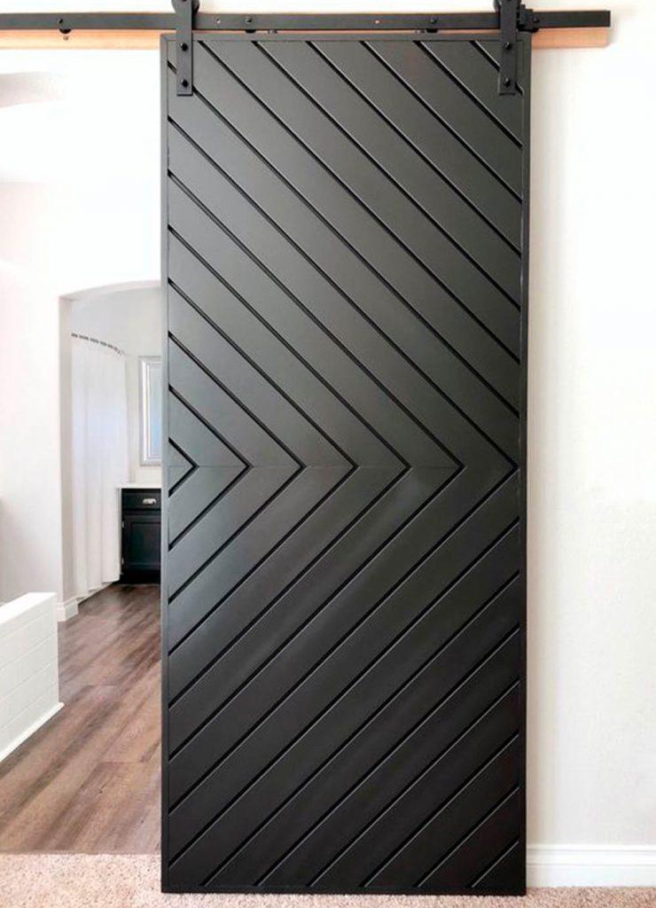 Одностворчатая раздвижная дверь Флэт с эмалью RAL без текстуры дерева