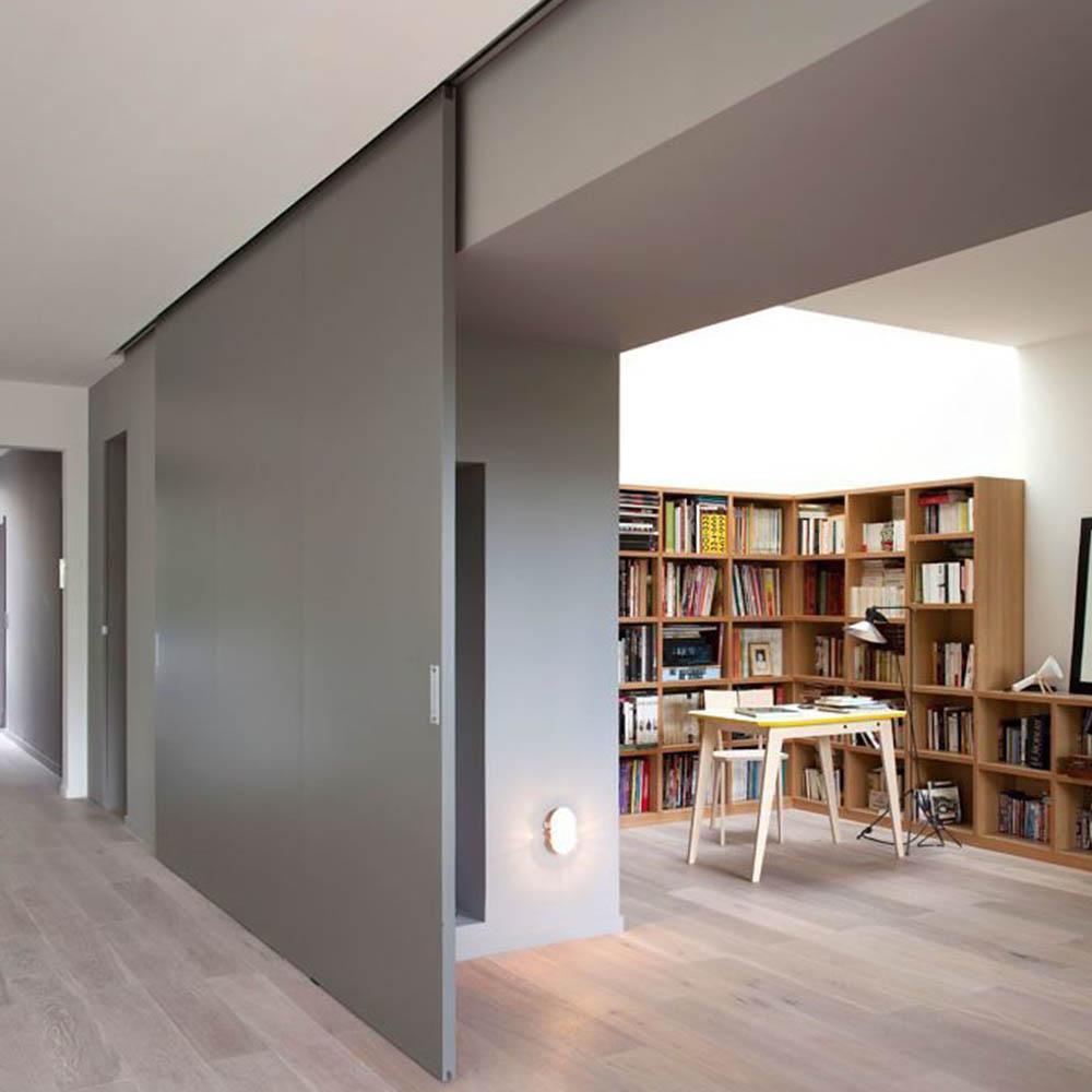 Подвесная раздвижная дверь Flat с эмалевым покрытием по RAL