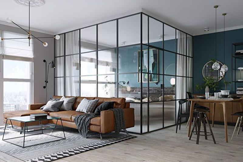 Межкомнатная дверь в стиле хай-тек отлично украсит вашу комнату.