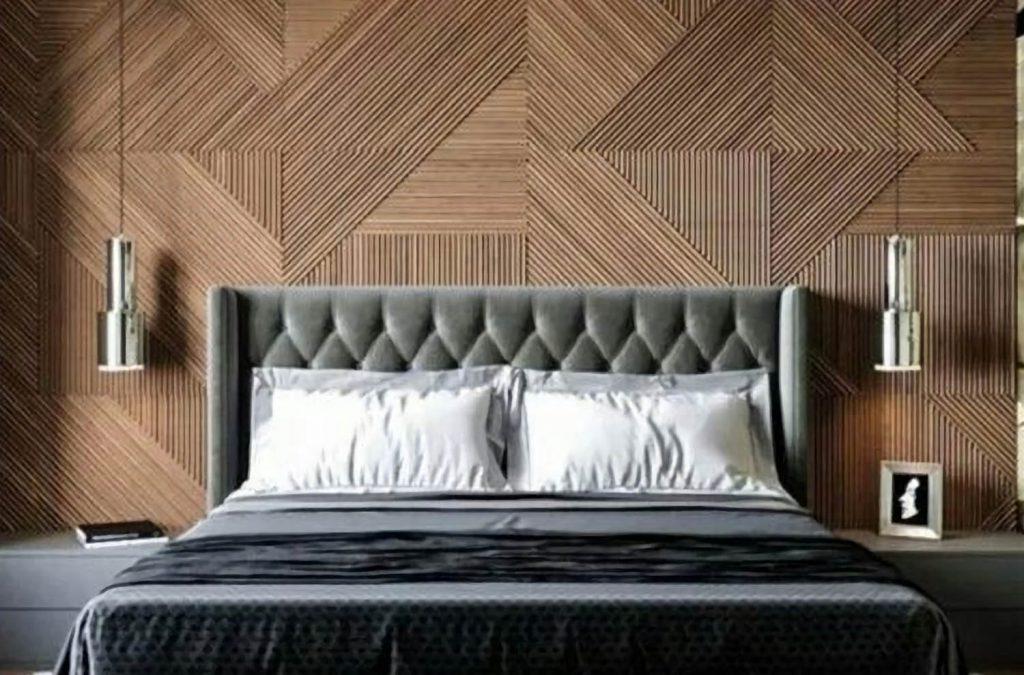 Роскошные стеновые 3D панели из шпона прекрасно впишутся в интерьер вашей спальни.