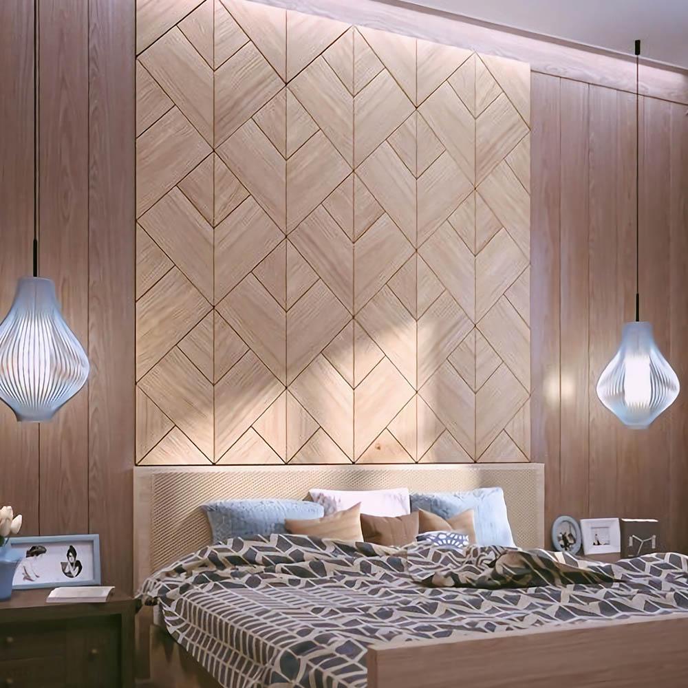 Стеновые панели 3D на основе МДФ 16мм с шпоном Европейского Дуба