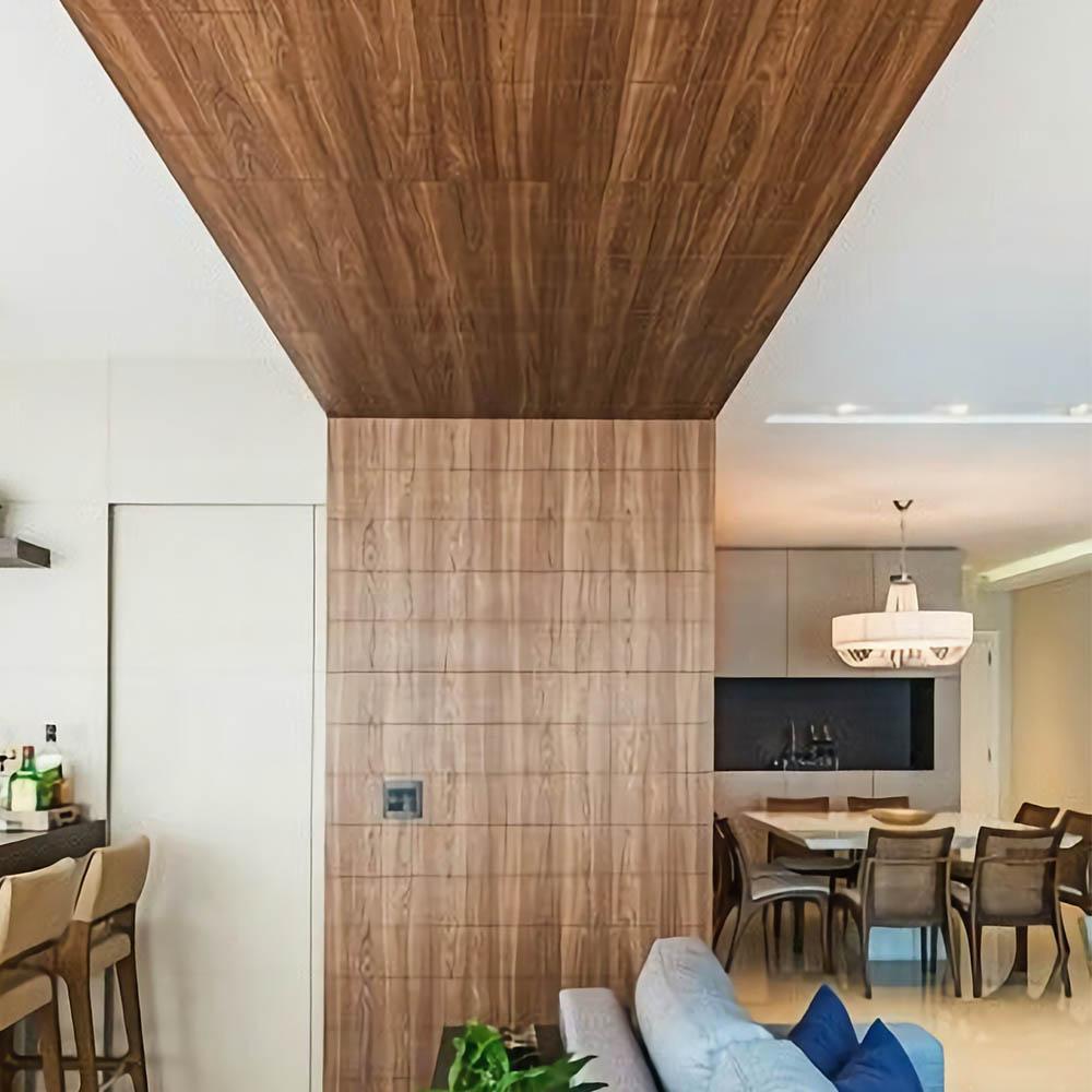 Стеновые панели для потолка из шпона Американского Ореха
