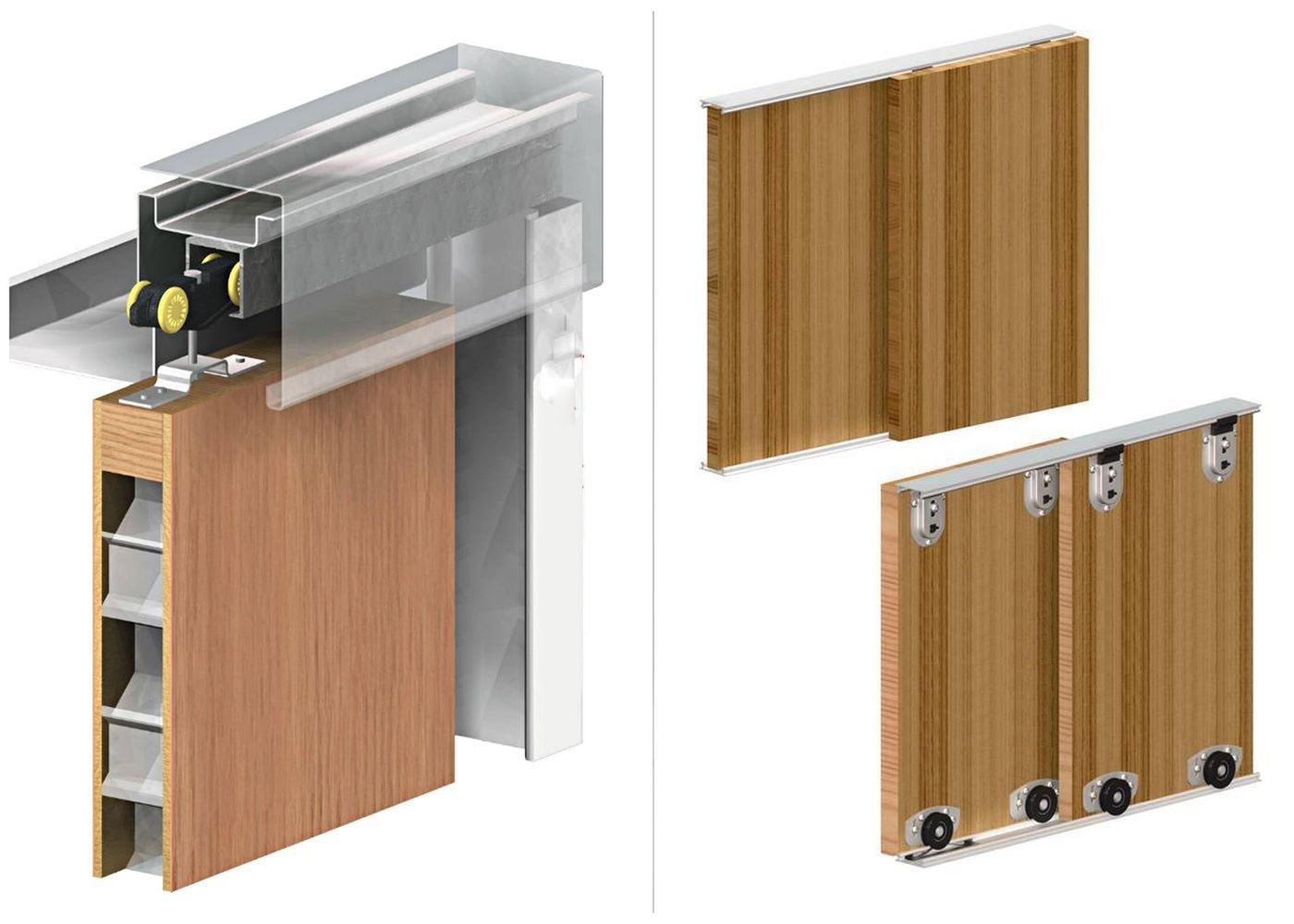 Механизм для легких дверей.