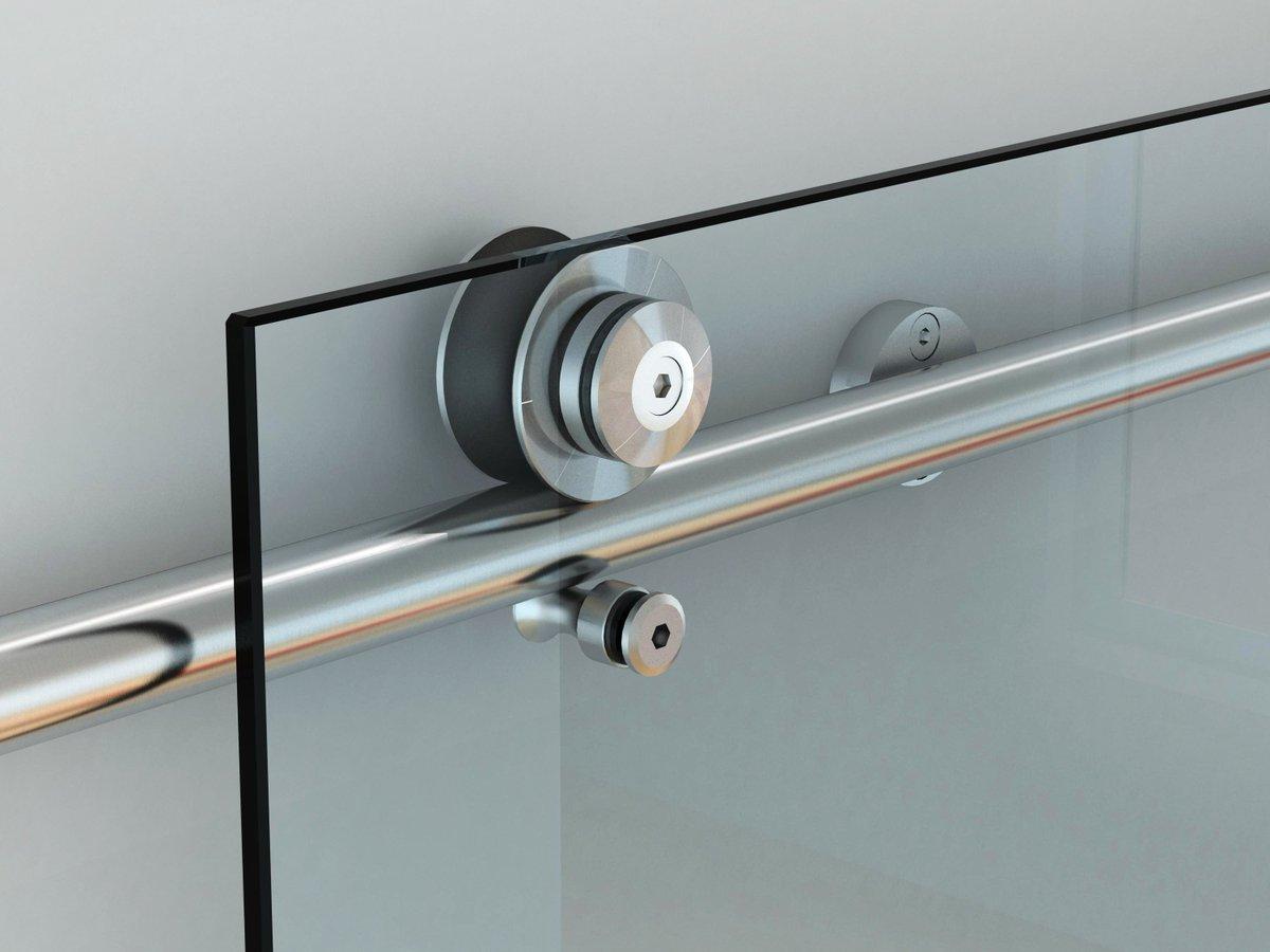 Механизм для стеклянных раздвижных дверей.