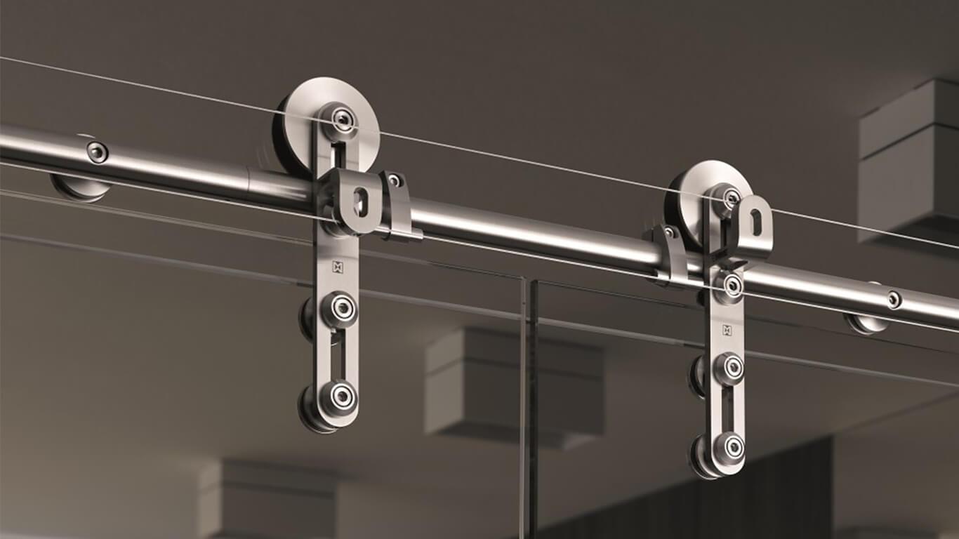 Механизм открытого типа для раздвижных дверей