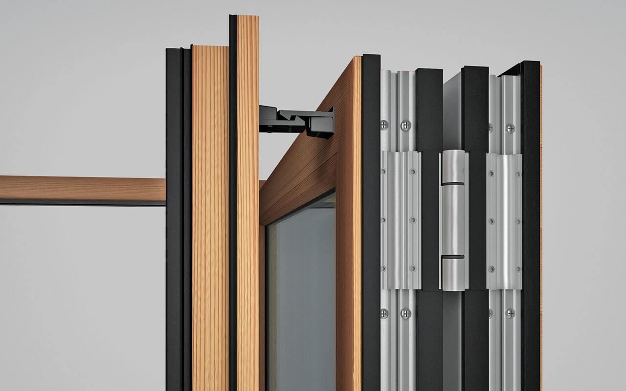 Поворотная система для раздвижных дверей.
