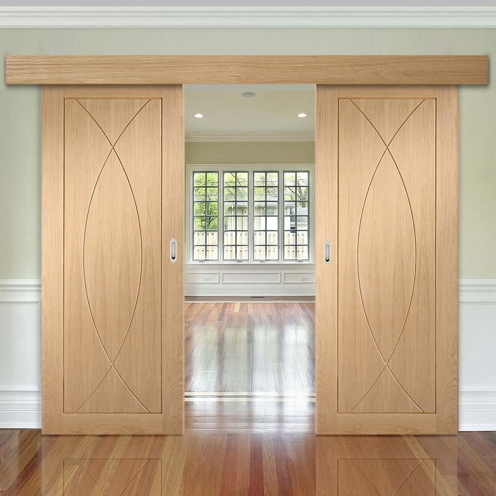 Раздвижная дверь, изготовленная из МДФ.