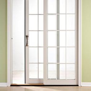 Стеклянная раздвижная дверь из шпона