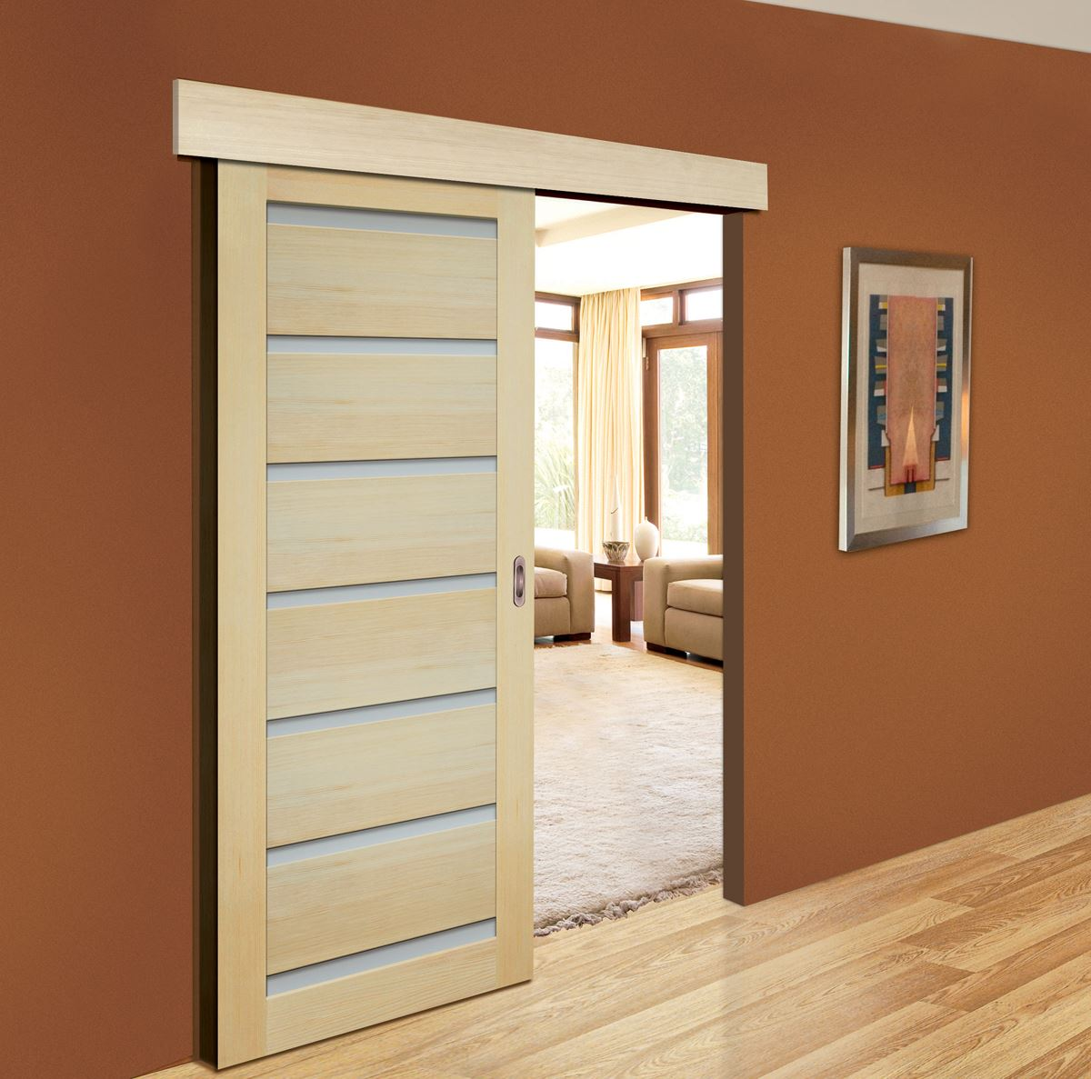 Виды материалов для раздвижных дверей.