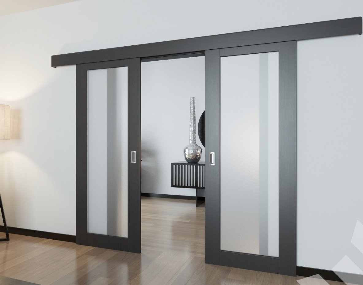 Внутрипроемные раздвижные двери.